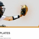 Baseball catcher PowerPoint Templates  (1)