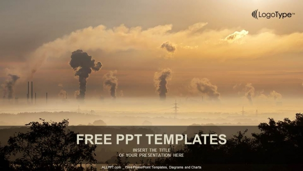 Black smoke from smoke stack powerpoint templates toneelgroepblik Images