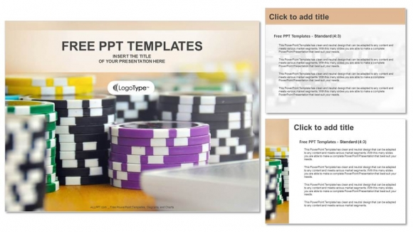 Casino tokens PowerPoint Templates (4)