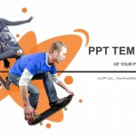 Cool skateboarder PowerPoint Templates (1)