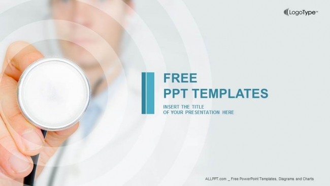 Doctor hand with stethoscope powerpoint templates toneelgroepblik Choice Image