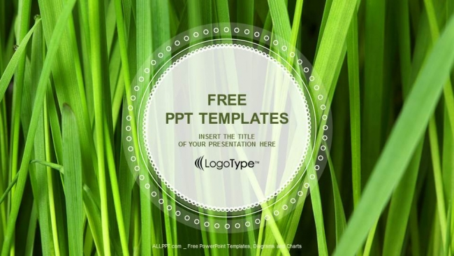 Free modern powerpoint templates design fresh green grass powerpoint templates toneelgroepblik Image collections