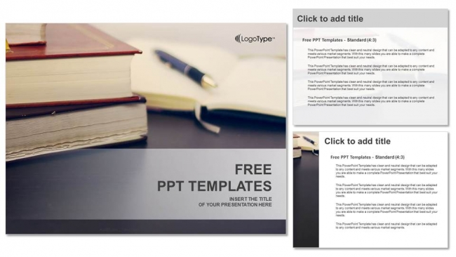 Many Old Books PowerPoint Templates (4)