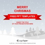 Merry Christmas with snowy winter PPT Templates (1)