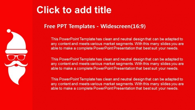 Merry christmas with santa PowerPoint Templates (3)