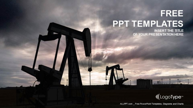 Oil pump jack PowerPoint Templates (1)