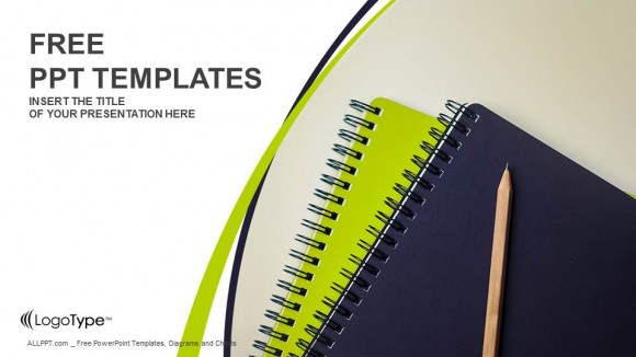 Pencil and Note Books PowerPoint Templates (1)