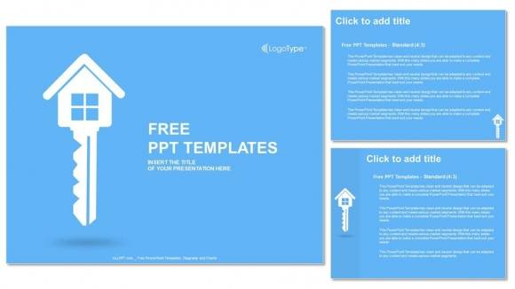 Real estate key PowerPoint Templates (4)