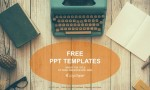Vintage Typewriter on wooden table PowerPoint Templates
