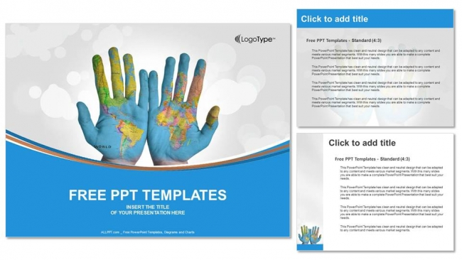 World-Map-Painted-on-Hands-PowerPoint-Templates- (4)