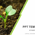 Young plant sprouting PowerPoint Templates (1)
