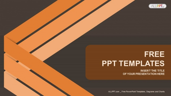 Abstract background with lines PowerPoint Template  (1)