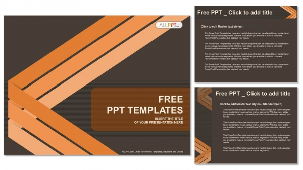 Abstract background with lines PowerPoint Template (4)