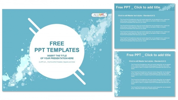 Abstract splashes PowerPoint Templates (4)