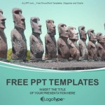 Ahu Tongariki on Easter Island PowerPoint Templates  (1)