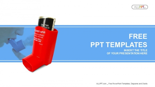 Asthma inhaler PowerPoint Templates (1)