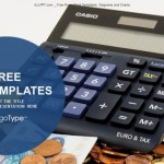 Calculator and euro banknotes PowerPoint Templates  (1)