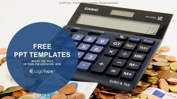 Calculator and euro banknotes powerpoint templates toneelgroepblik