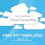 Cloud Computing on blue PowerPoint Templates  (1)