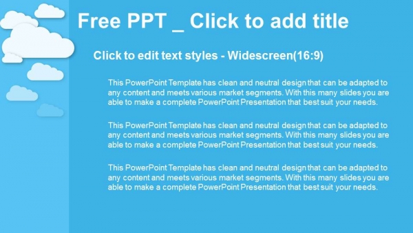 Cloud Computing on blue PowerPoint Templates (3)