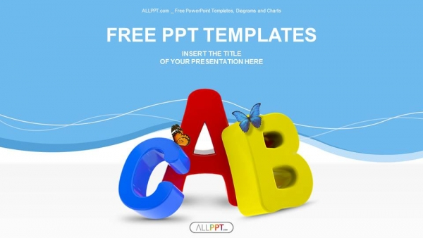 Colorful symbols heap of alphabet powerpoint templates toneelgroepblik