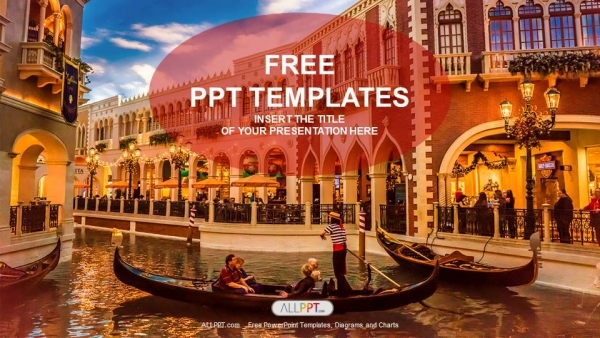 Free travel powerpoint templates design gondolas with tourists in venice travel powerpoint templates toneelgroepblik Image collections