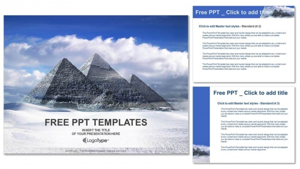 Great pyramids in Giza valley-Travel PowerPoint Templates (4)