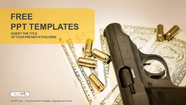 Gun and group of bullets powerpoint templates toneelgroepblik Choice Image