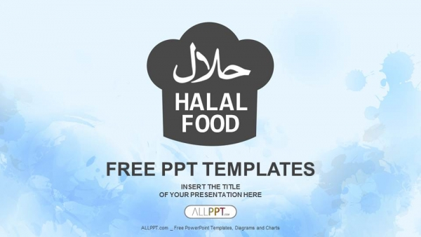 Food powerpoint templates design halal food powerpoint templates toneelgroepblik Choice Image