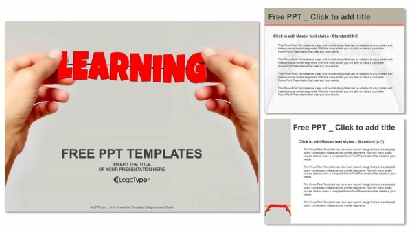 Hand and word Learning PowerPoint Templates (4)