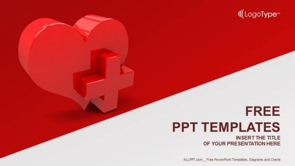 Heart with medical sign powerpoint templates toneelgroepblik Images
