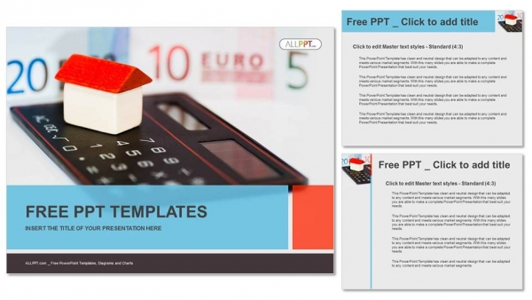 House on calculator and money PowerPoint Templates (4)