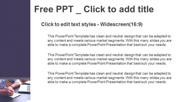 Makes a note at business document PowerPoint Templates (3)