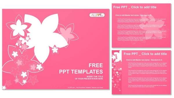 Nature with of pink flowers PowerPoint Templates (4)