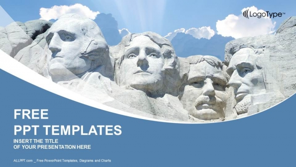 rushmore national memorial powerpoint templates, Presentation templates