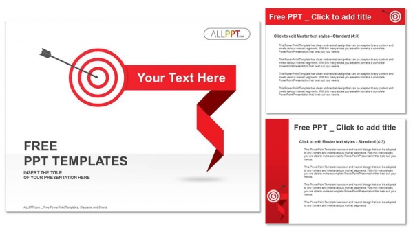 Shooting target PowerPoint Templates (4)
