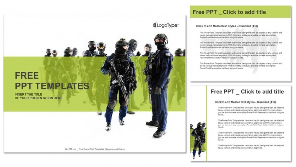 Special weapons and tactics team PowerPoint Templates (4)
