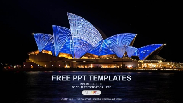 Sydney Opera House-Travel PowerPoint Templates  (1)