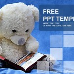 Teddy bear reads a book PowerPoint Templates  (1) - Copy