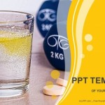 Vitamins pills soluble in water-Medical PowerPoint Templates  (1)