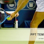 Young female tennis player-Sports PowerPoint Templates  (1)