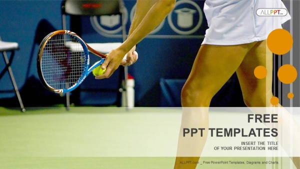 Free sports powerpoint templates design young female tennis player sports powerpoint templates toneelgroepblik