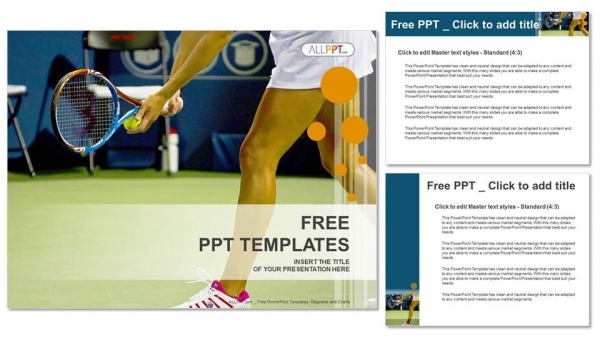 Young female tennis player-Sports PowerPoint Templates (4)