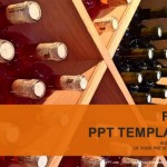 wine bottles stacked on wooden racks PowerPoint Templates  (1)