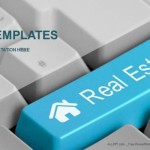 Computer keyboard with real estate key PowerPoint Templates  (1)