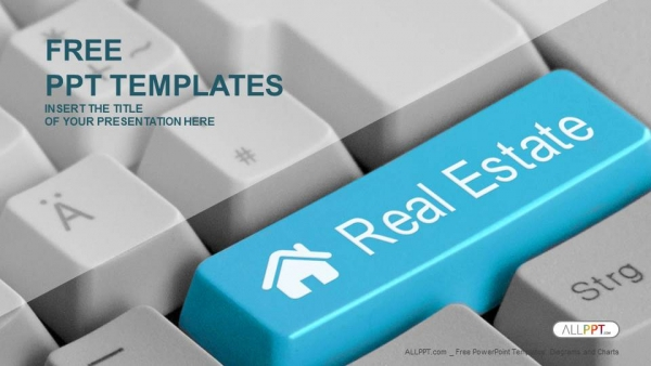 Free real estate powerpoint templates design computer keyboard with real estate key powerpoint templates toneelgroepblik Choice Image
