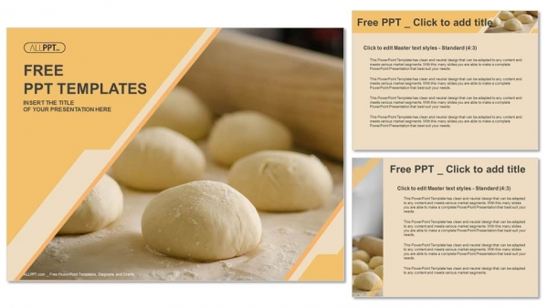 dough balls for pizza-food powerpoint templates, Modern powerpoint