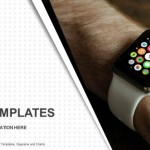 Hand wearing elegant smartwatch PowerPoint Templates  (1)