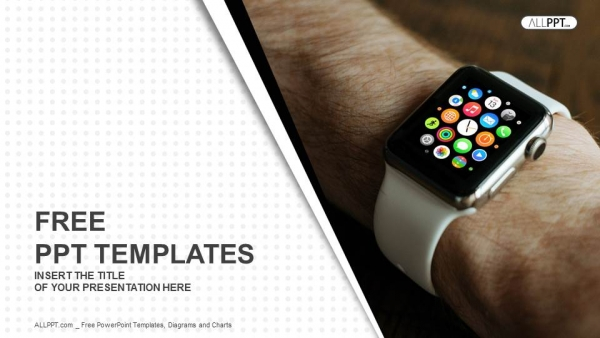 Hand wearing elegant smartwatch powerpoint templates toneelgroepblik Image collections