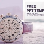 Men's watch with leather strap PowerPoint Templates  (1)